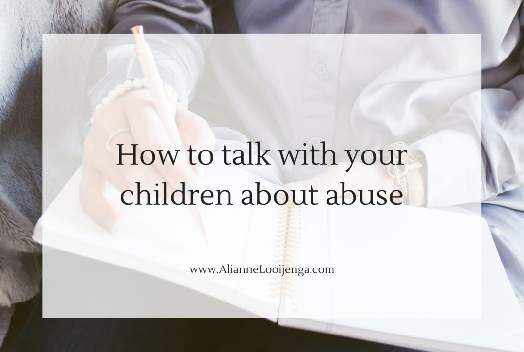How to talk with your children about abuse